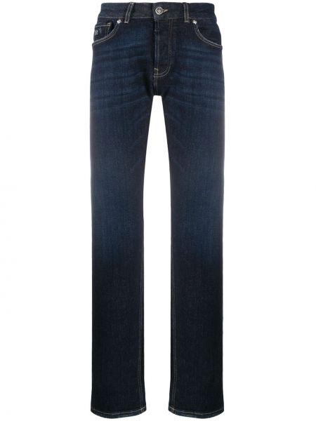 Синие прямые джинсы на молнии John Richmond