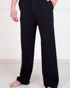 Прямые прямые брюки с карманами из футера новогодние Lika Dress