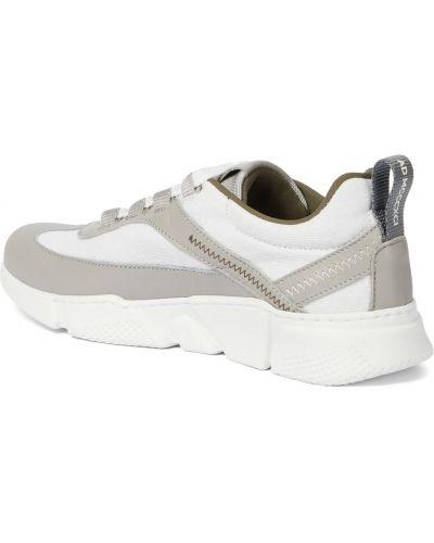 Białe sneakersy skorzane Brunello Cucinelli Kids