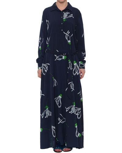 Платье весеннее синее Anonyme