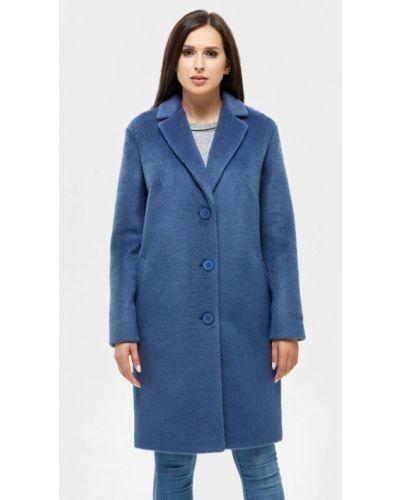 Синее пальто с капюшоном Danna