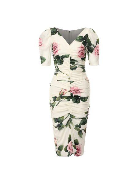 Платье мини миди с декольте Dolce & Gabbana