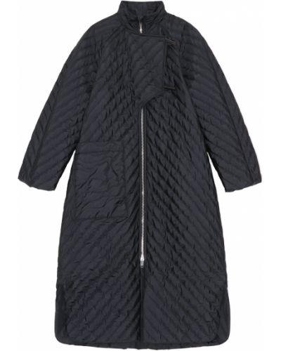Черное пальто с карманами Ganni
