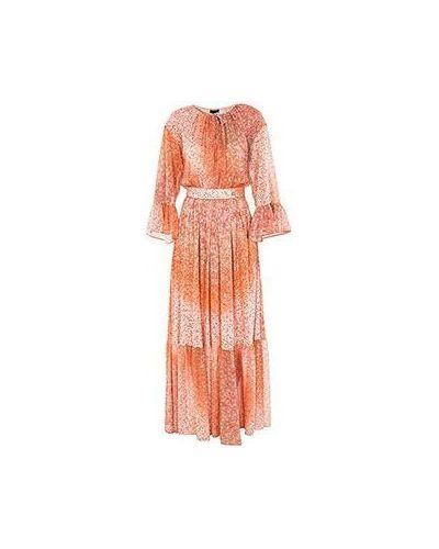 Повседневное вечернее платье - оранжевое Class Cavalli