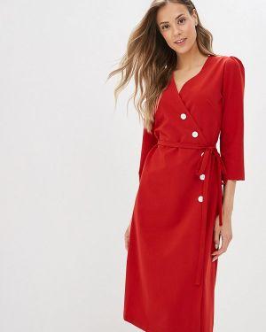 Платье с запахом красный Nastasia Sabio