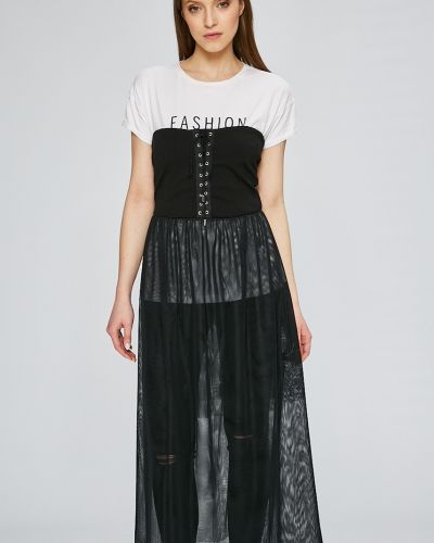 Платье миди из вискозы однотонное Answear