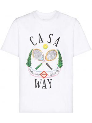 Хлопковая футболка - белая Casablanca