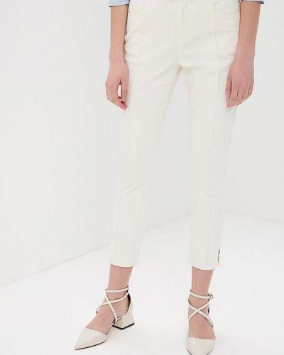 Белые зауженные брюки Love Republic