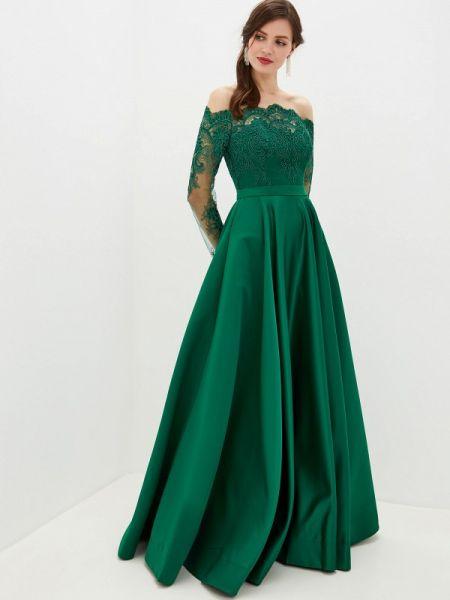 Вечернее платье зеленый весеннее Milomoor