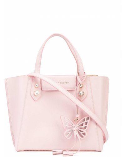 Кожаная сумка - розовая Sophia Webster