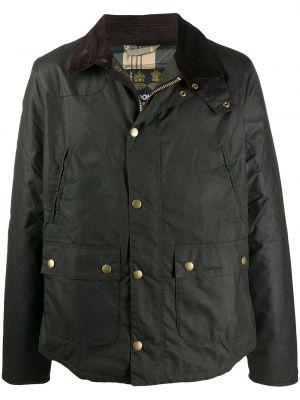 Хлопковая с рукавами черная длинная куртка Barbour