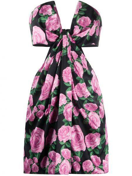 Sukienka mini w kwiaty z jedwabiu Giuseppe Di Morabito