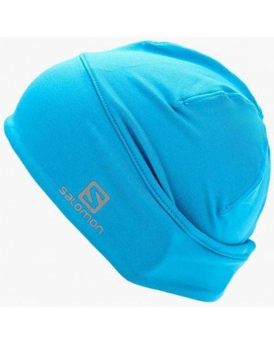 Голубая шапка осенняя Salomon