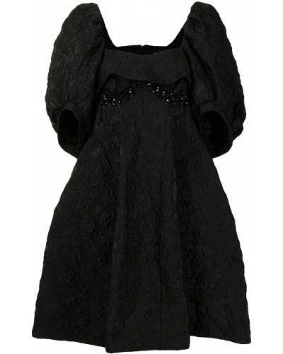 Пышное черное платье с вырезом Simone Rocha