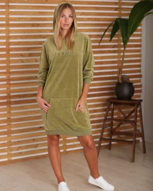 Платье миди велюровое с карманами Mix-mode