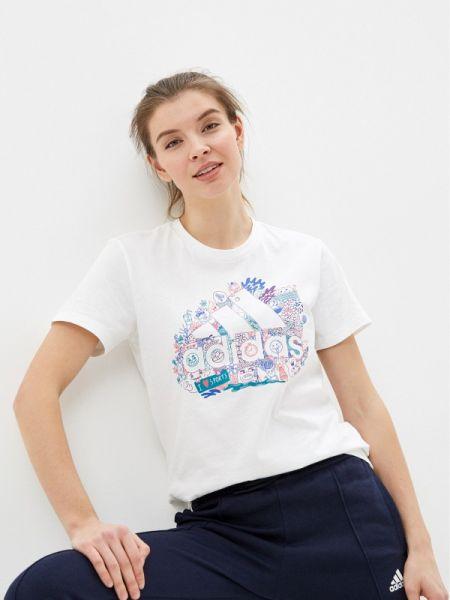 Поло белое футбольный Adidas
