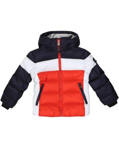 Pikowana puchaty niebieski pikowana kurtka Bogner Kids