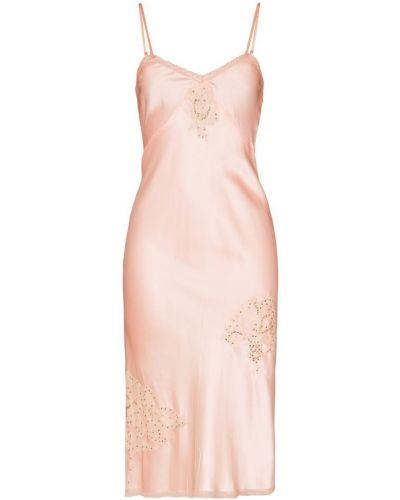 Платье миди с пайетками с вышивкой One Vintage