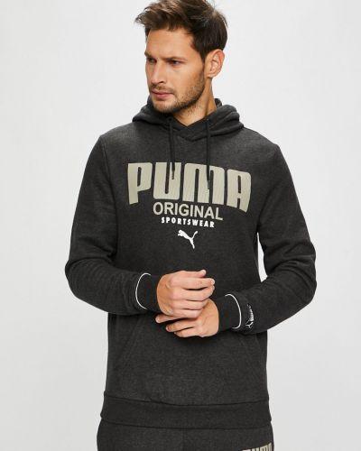 Кофта с принтом серый Puma
