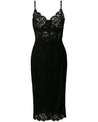 Платье миди с запахом на бретелях Dolce & Gabbana