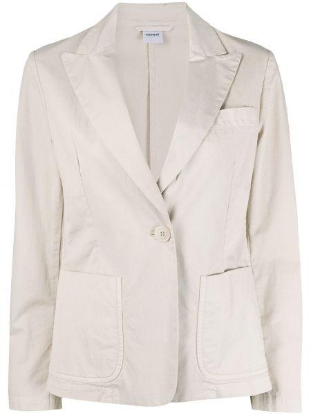 Пиджак в полоску с накладными карманами Aspesi