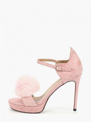 Босоножки на каблуке розовый Grand Style