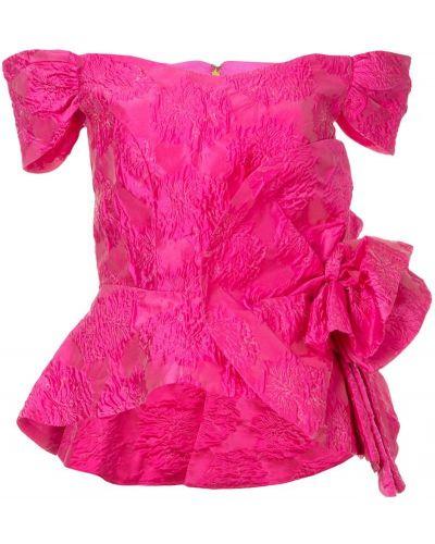 Топ с баской розовый Bambah