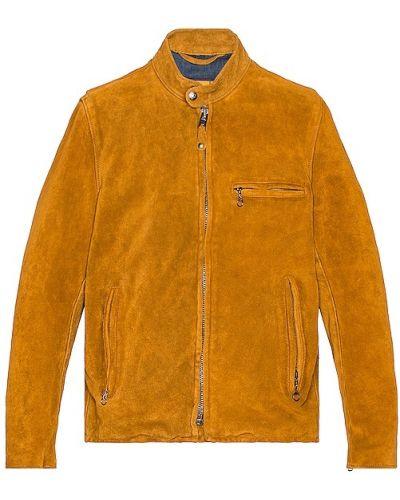 Кожаная куртка с воротником Schott
