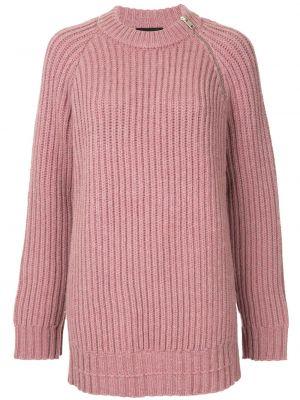 Różowy sweter wełniany z długimi rękawami Calvin Klein 205w39nyc
