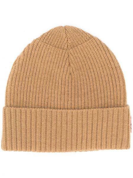 Prążkowana beżowa czapka wełniana Acne Studios
