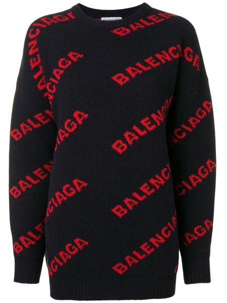 Свитер длинный со спущенным плечом Balenciaga