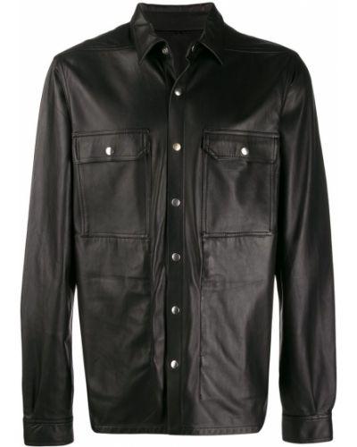 Классическая рубашка в полоску с карманами Rick Owens