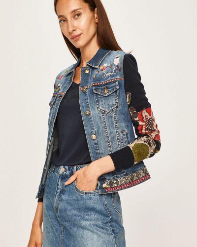 Джинсовая куртка с капюшоном укороченная Desigual