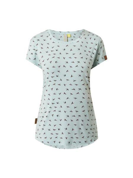 T-shirt z wiskozy - niebieska Alife And Kickin