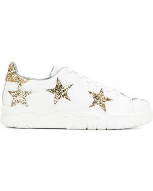 Кожаные кроссовки белый Chiara Ferragni