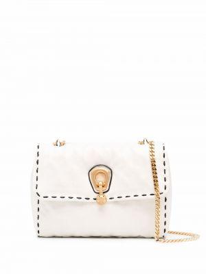 Белая кожаная сумка Ermanno Scervino