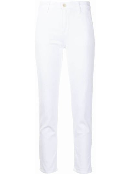 Джинсовые зауженные джинсы - белые Ag Jeans