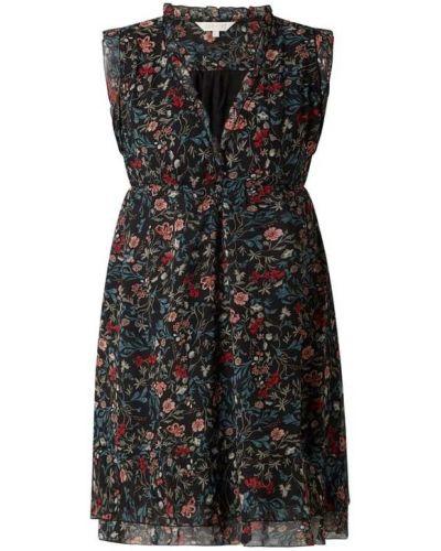 Czarna sukienka rozkloszowana z falbanami Apricot