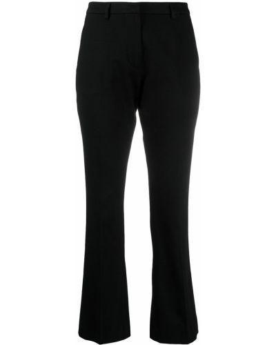 Хлопковые черные классические брюки узкого кроя Pt01