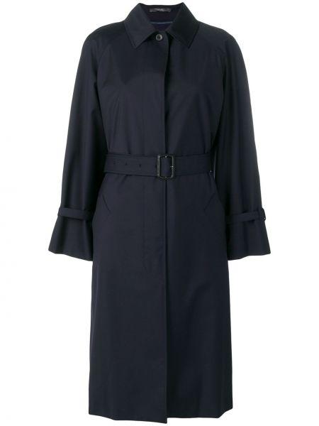 Синее шерстяное пальто классическое с воротником Paul Smith
