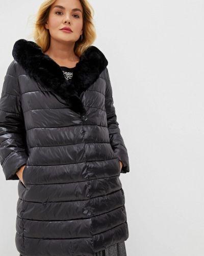 Утепленная куртка демисезонная черная Elena Miro