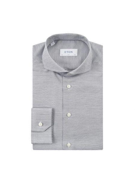 Koszula z długim rękawem długa z kołnierzem Eton Slim Fit