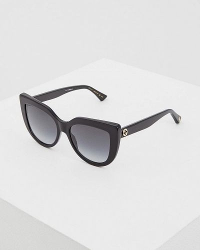 Очки кошачий глаз солнцезащитные черные Gucci