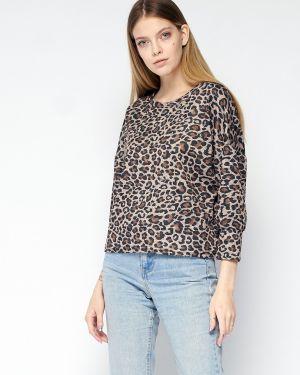 Повседневная блузка с рукавом 3/4 свободного кроя с круглым вырезом Fiato