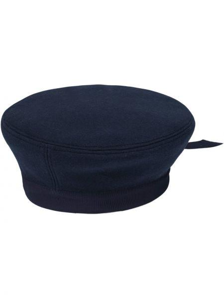 Niebieski wełniany beret Gucci