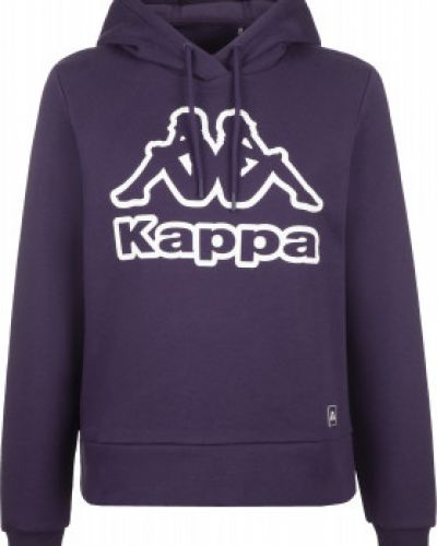 Спортивный хлопковый фиолетовый джемпер свободного кроя Kappa