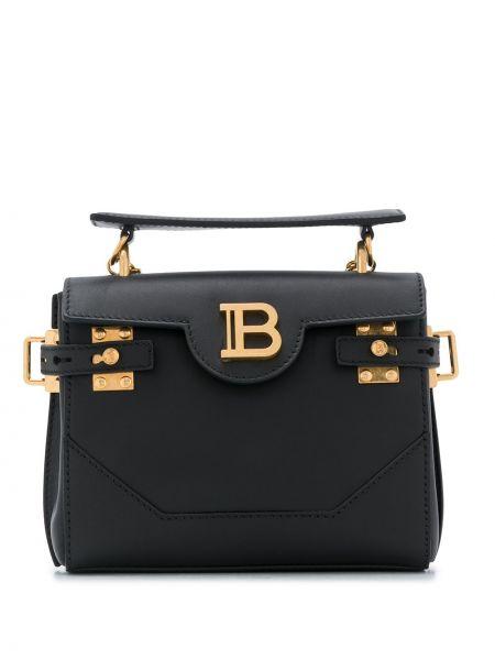 Z paskiem czarny plecak na paskach Balmain