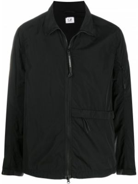 Спортивная куртка черная длинная Cp Company Kids