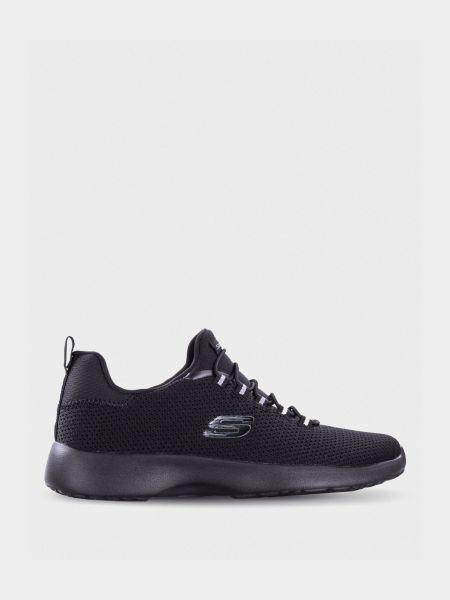 Текстильные брендовые кроссовки квадратные Skechers