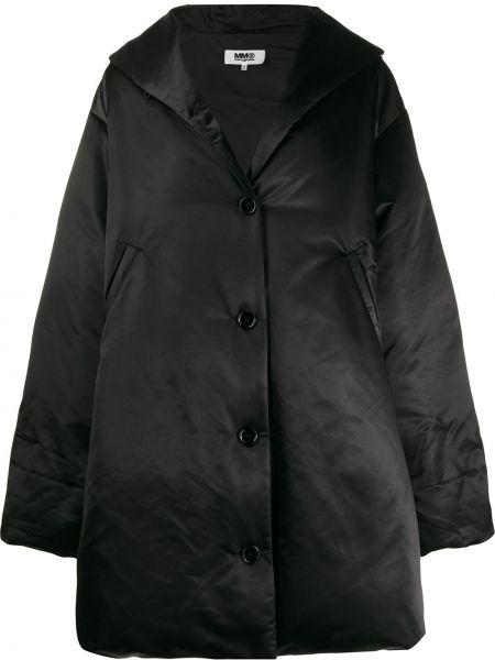 Длинное пальто оверсайз на кнопках Mm6 Maison Margiela